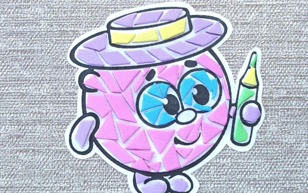Мастер — класс для младших школьников по мозаике из текстиля и клеевого пластика.