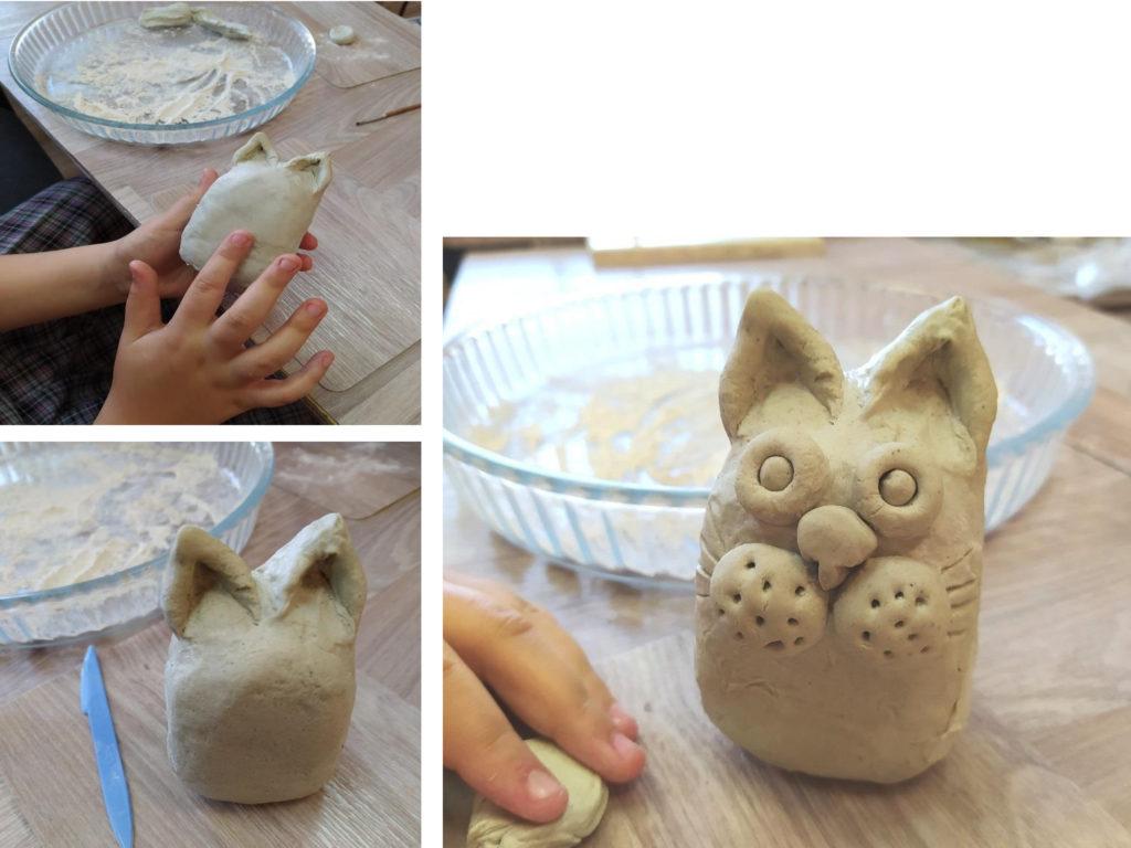 Сначала бумажная глина , а потом получился кот